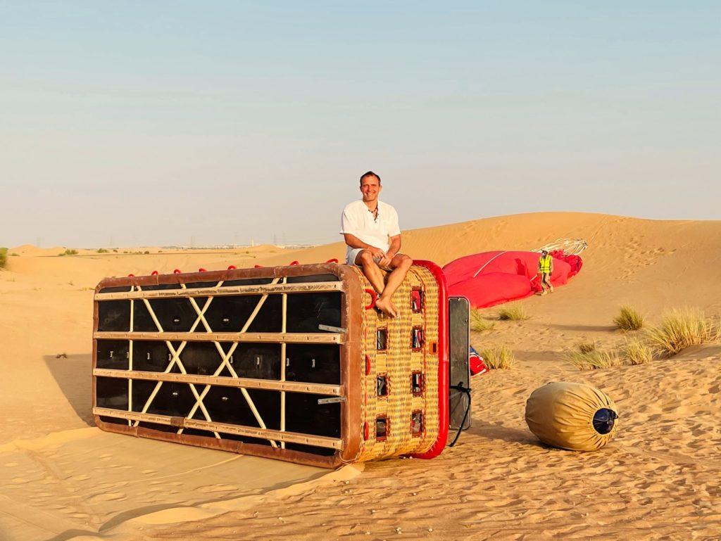 Ballonfahrt über die Wüste