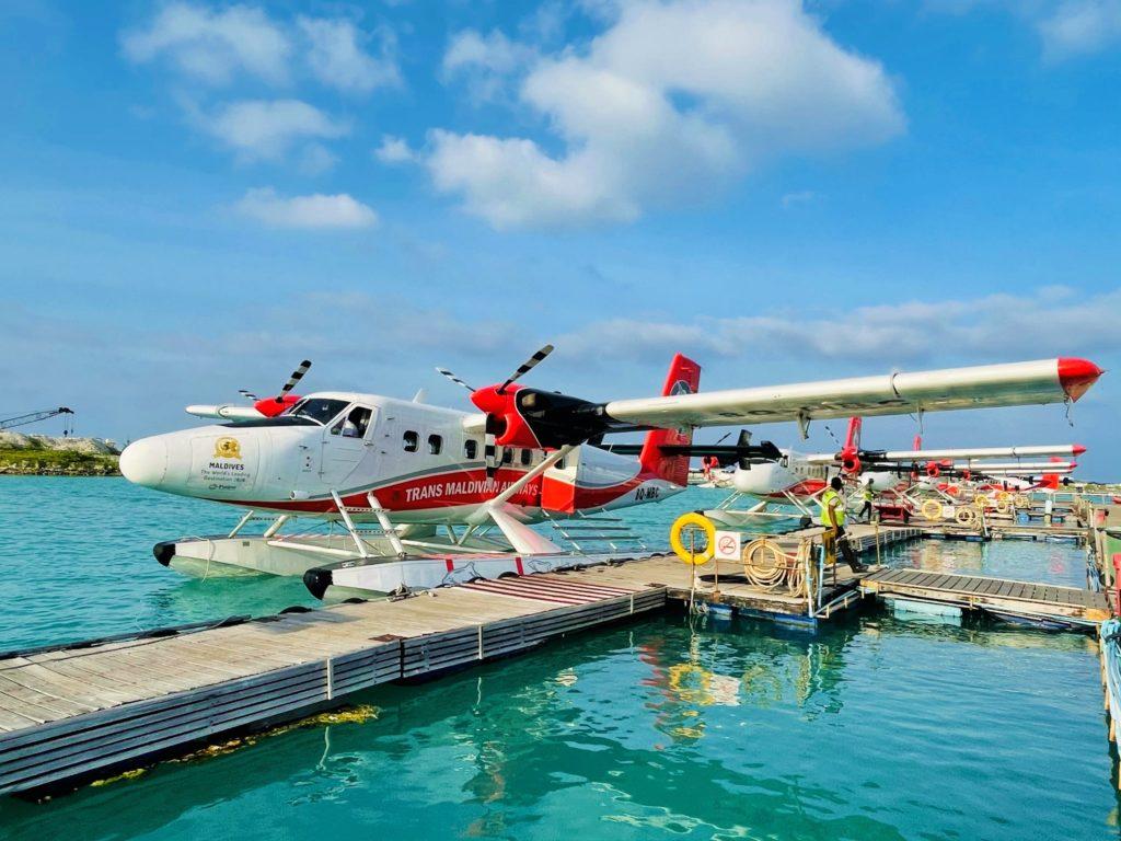 Anreise mit dem Wasserflugzeug